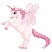 vinilos-infantiles-unicornio-con-alas-rosa